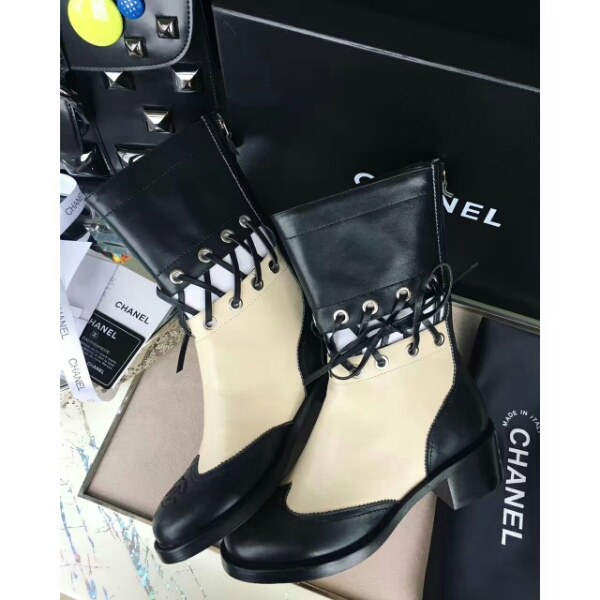 CHANEL•2016FW 巴黎秀场主打新款短靴 全新罗马捆绳镂空设计经典马丁靴