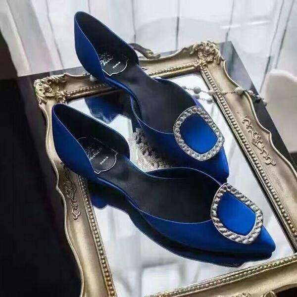 Roger Vivier鞋官网 RV专柜新款2016全网最顶级真正施华洛世奇水钻单鞋