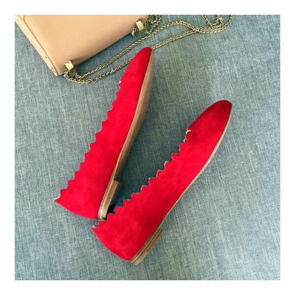 Chloe超美的花瓣鞋-少女心爆发 真皮鞋底单鞋
