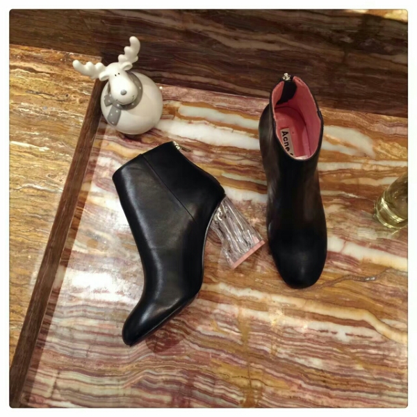 【Acne Studios】原版顶级9cm水晶跟短靴‼️真皮女靴子