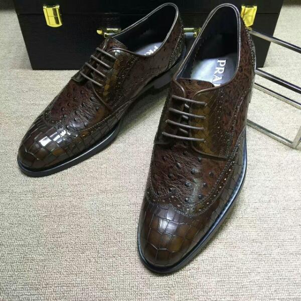 【PRADA】普拉达实拍图 高端品质 正装皮鞋