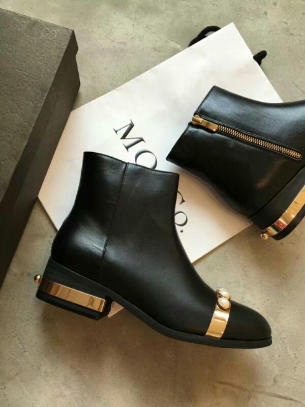 Gucci古驰秋冬短靴 最新爆款小圆头短靴