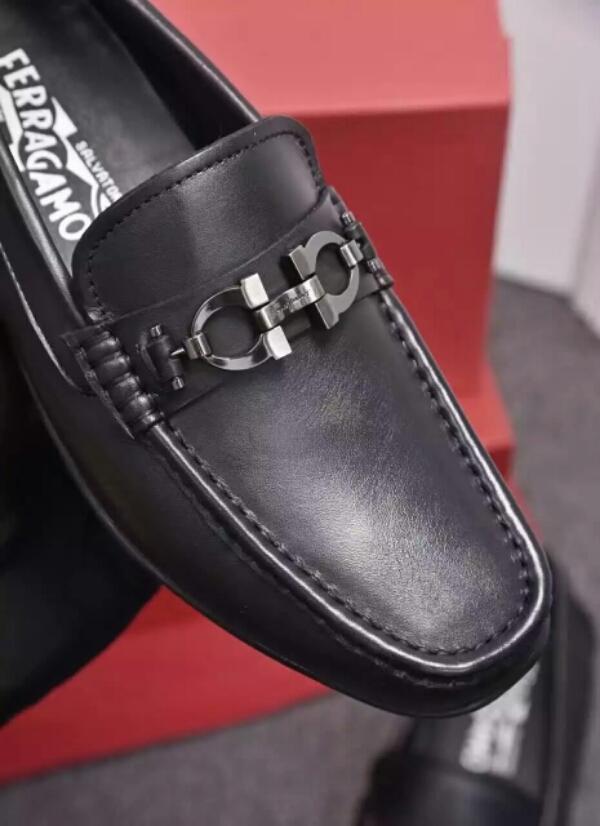 FERRAGAMO菲拉格慕官网同款2016年新款男士休闲鞋 豆豆鞋