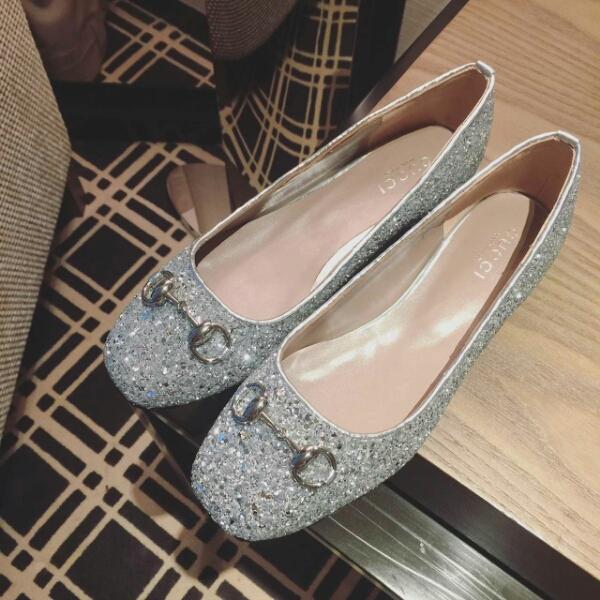 Blingbling GUCCI平跟单鞋 原单品质超好看格利特水晶鞋