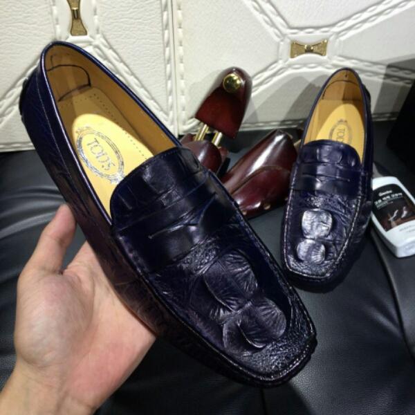 Tod's托德斯 意大利进口鳄鱼纹牛皮男士休闲鞋