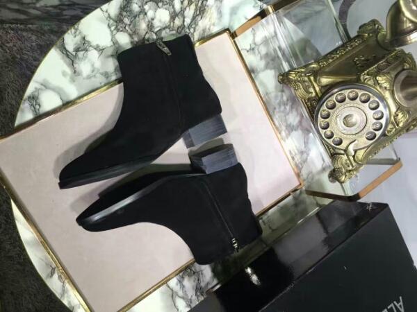 Alexander Wang亚历山大王2016秋冬专柜橱窗推荐款靴子,王菲同款短靴