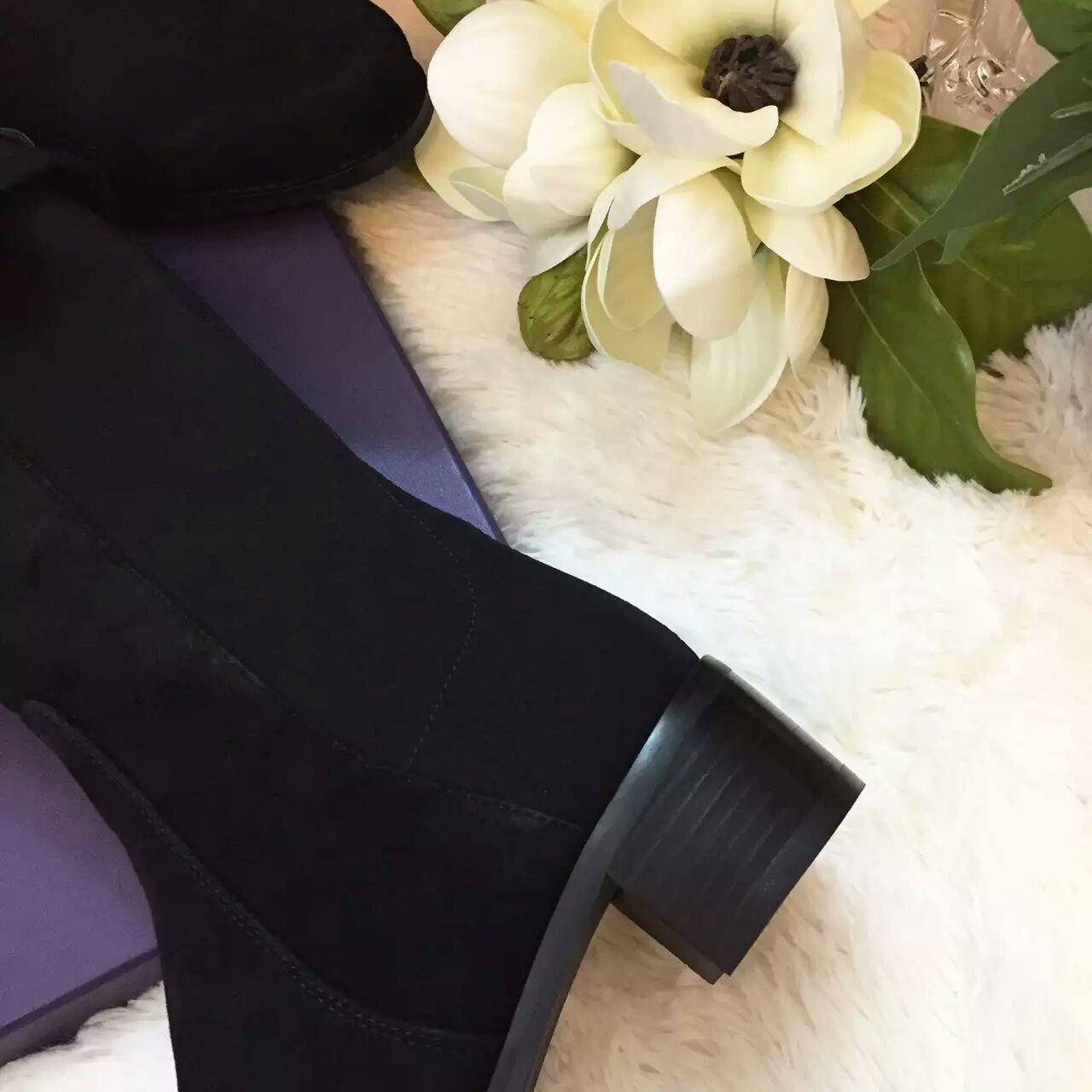 Stuart Weitzman 2016黑色羊绒款5050过膝长靴