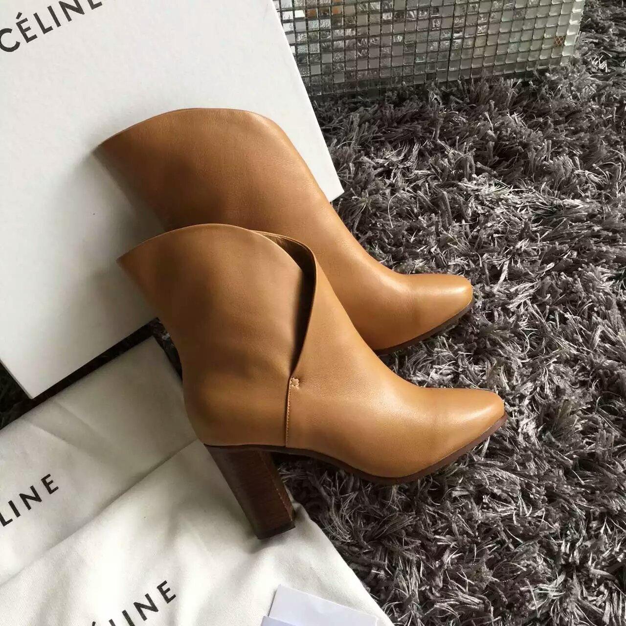 Celine2016款真皮女士短靴