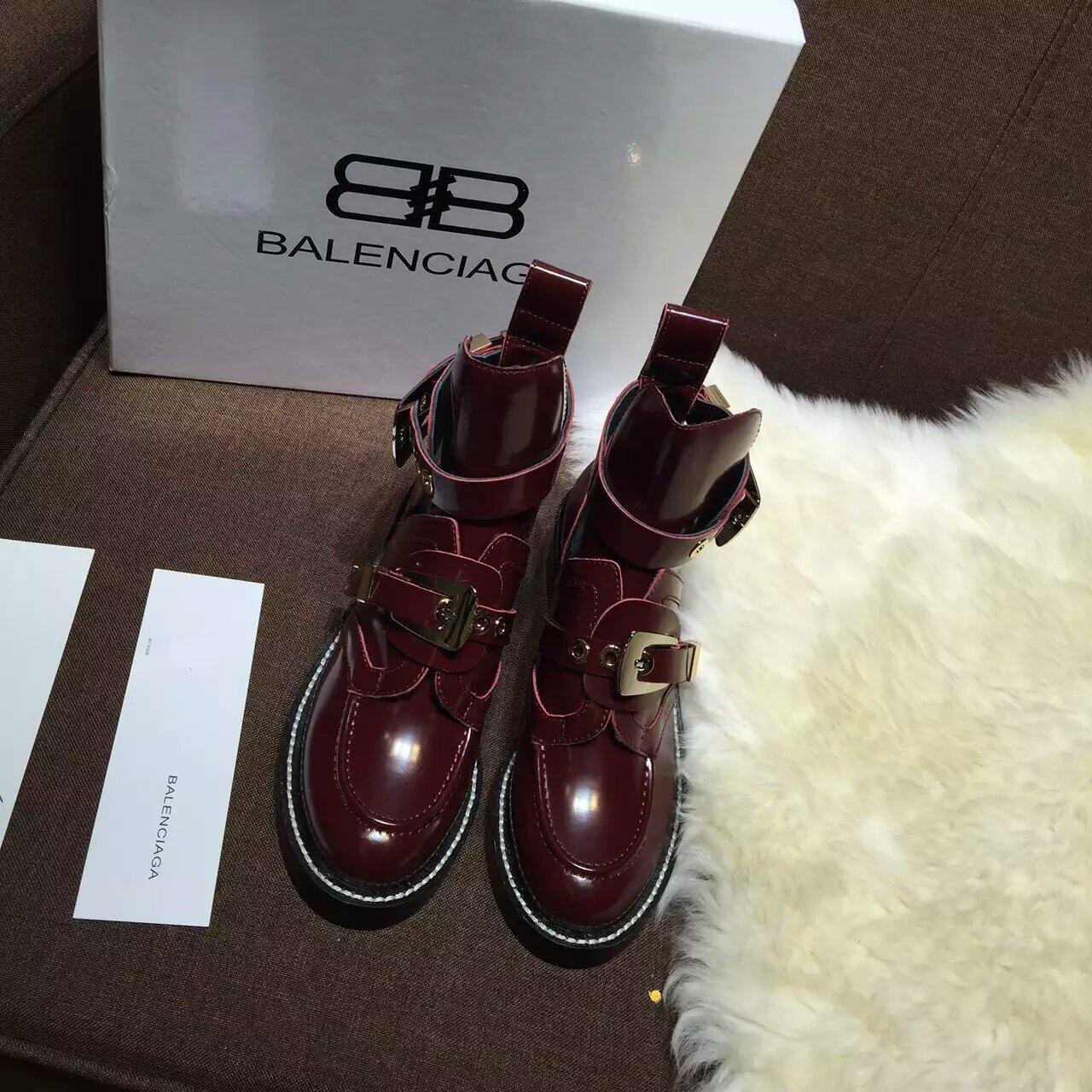 2016专柜同款巴黎世家顶级板本机车靴Balenciaga短靴