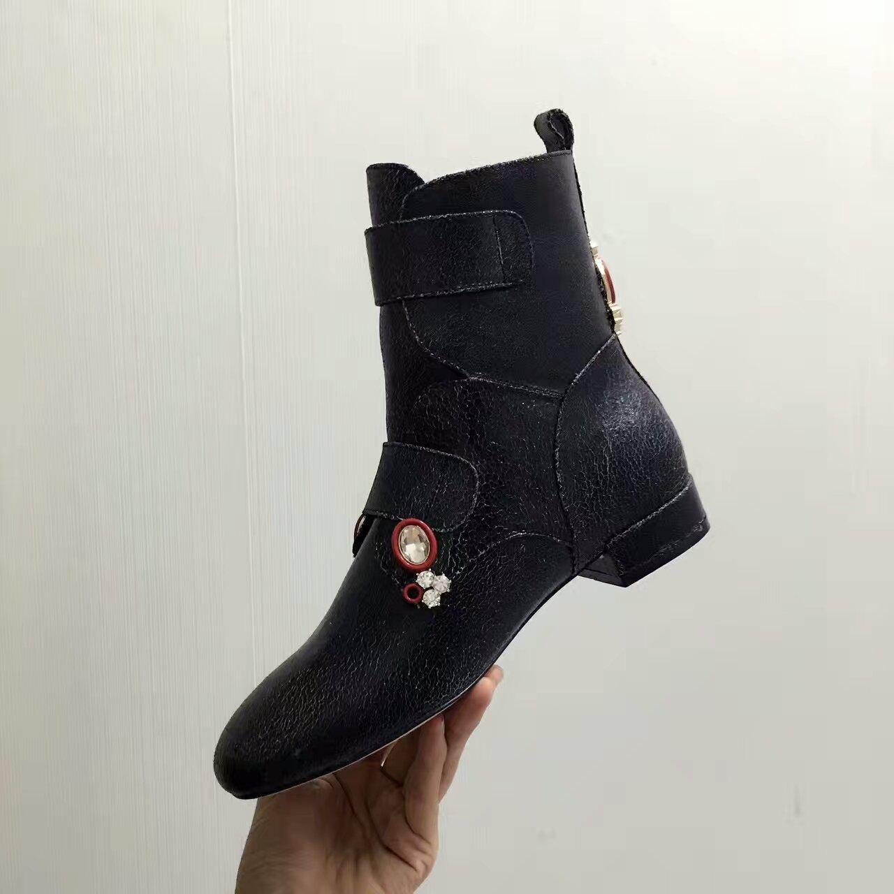 顶级品质 Dior2016秋冬超酷短马丁靴_短靴