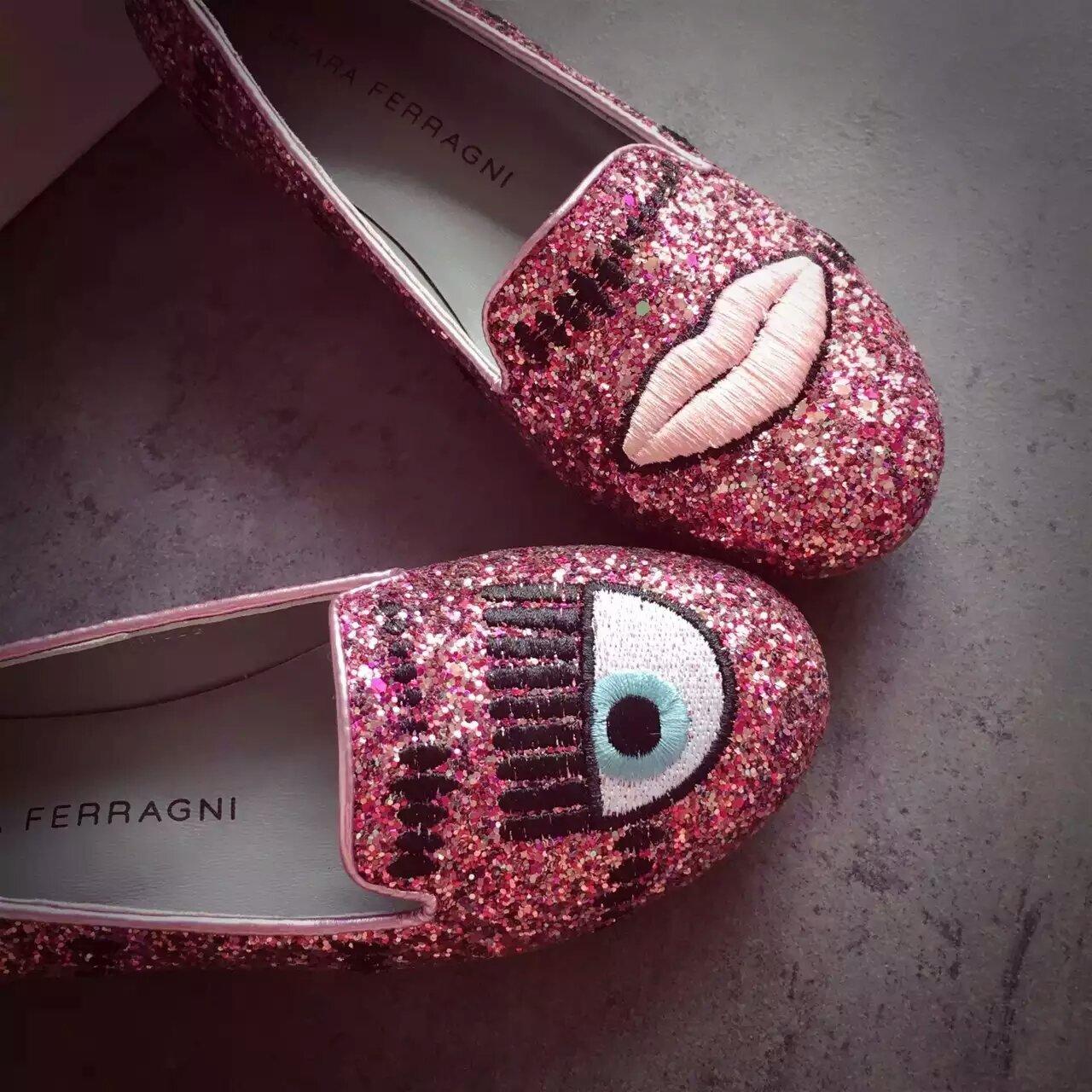 CHIARAFERRAGNI眼睛平底单鞋原单品质