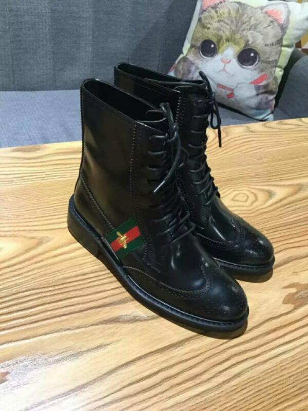 古奇( GUCCI)古驰2016秋冬小蜜蜂系列女靴 原单新款短靴
