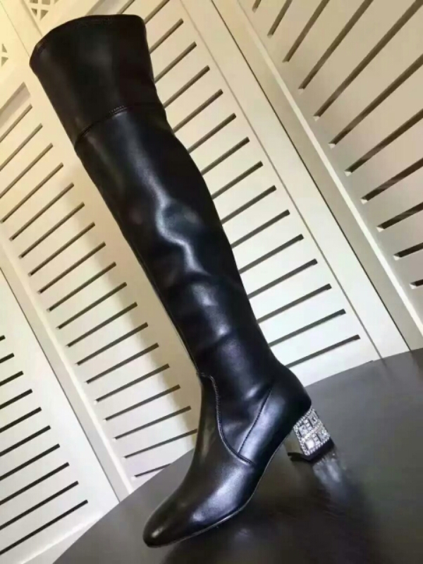 miumiu缪缪瘦腿神器 16款初秋最美的水钻过膝靴