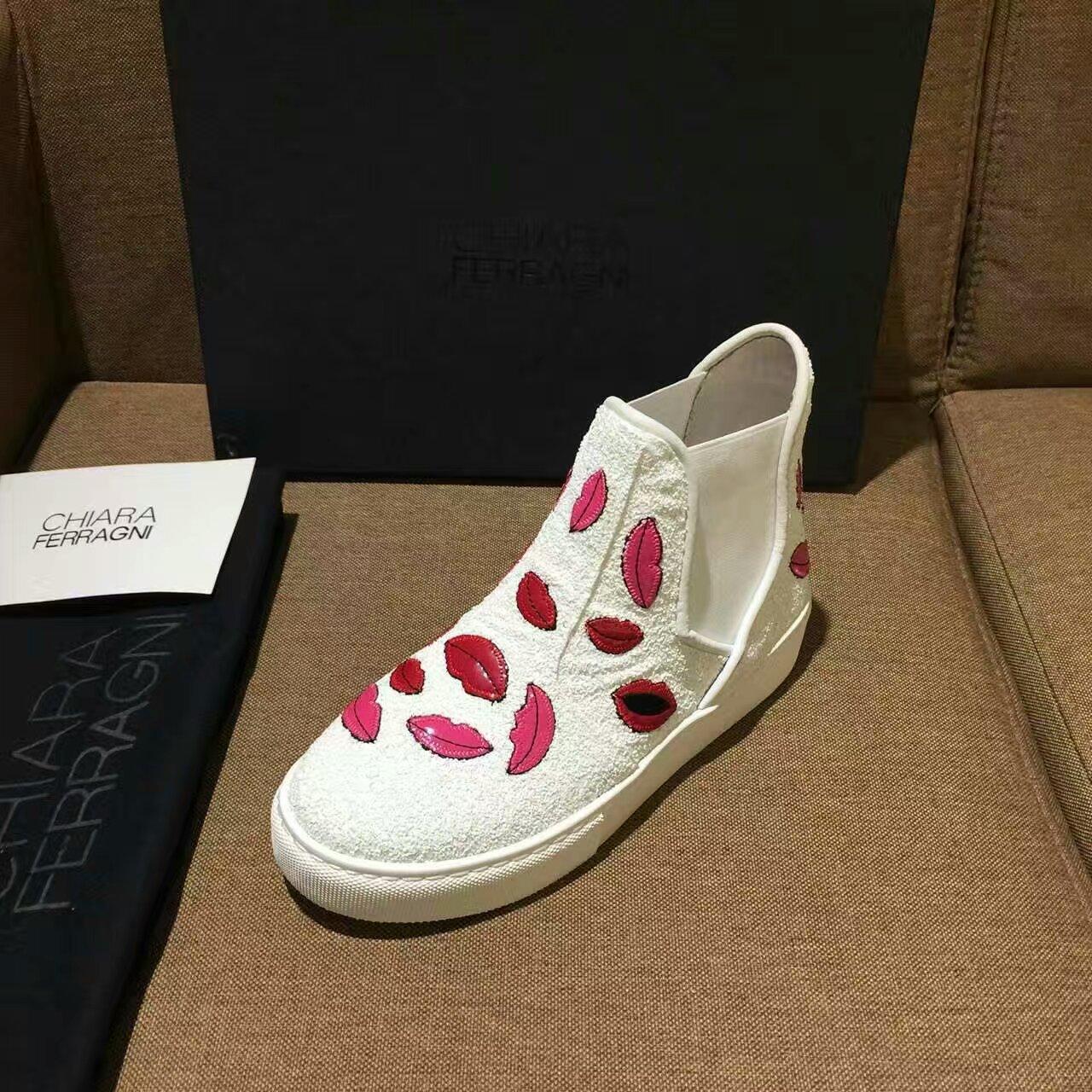 【Chiara Ferragni】专柜定制款高帮鞋