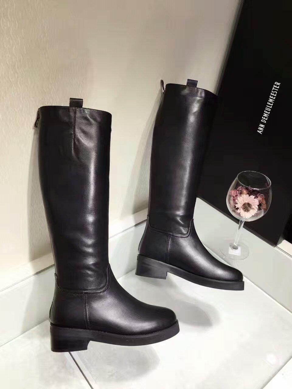 Ann demeulemeester经典款顶级版本 16FW 暗黑系爆款长靴_机车靴