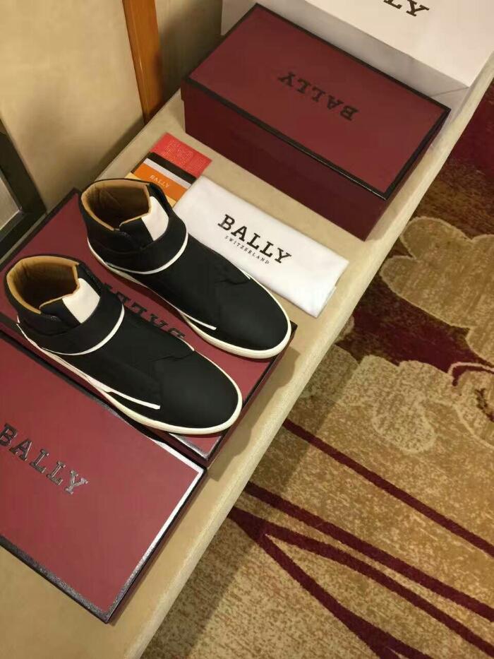BALLY2016款顶级男士高帮鞋专柜同步发售