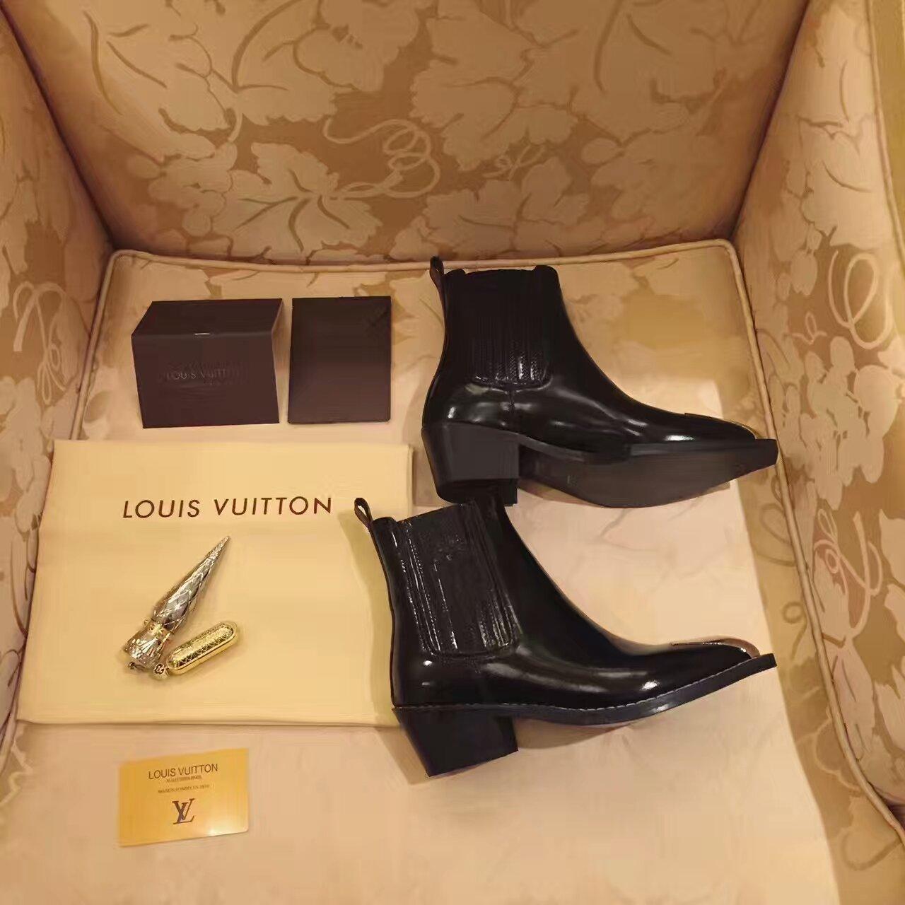 Louis Vuitton16秋冬帅气金属铁头短靴