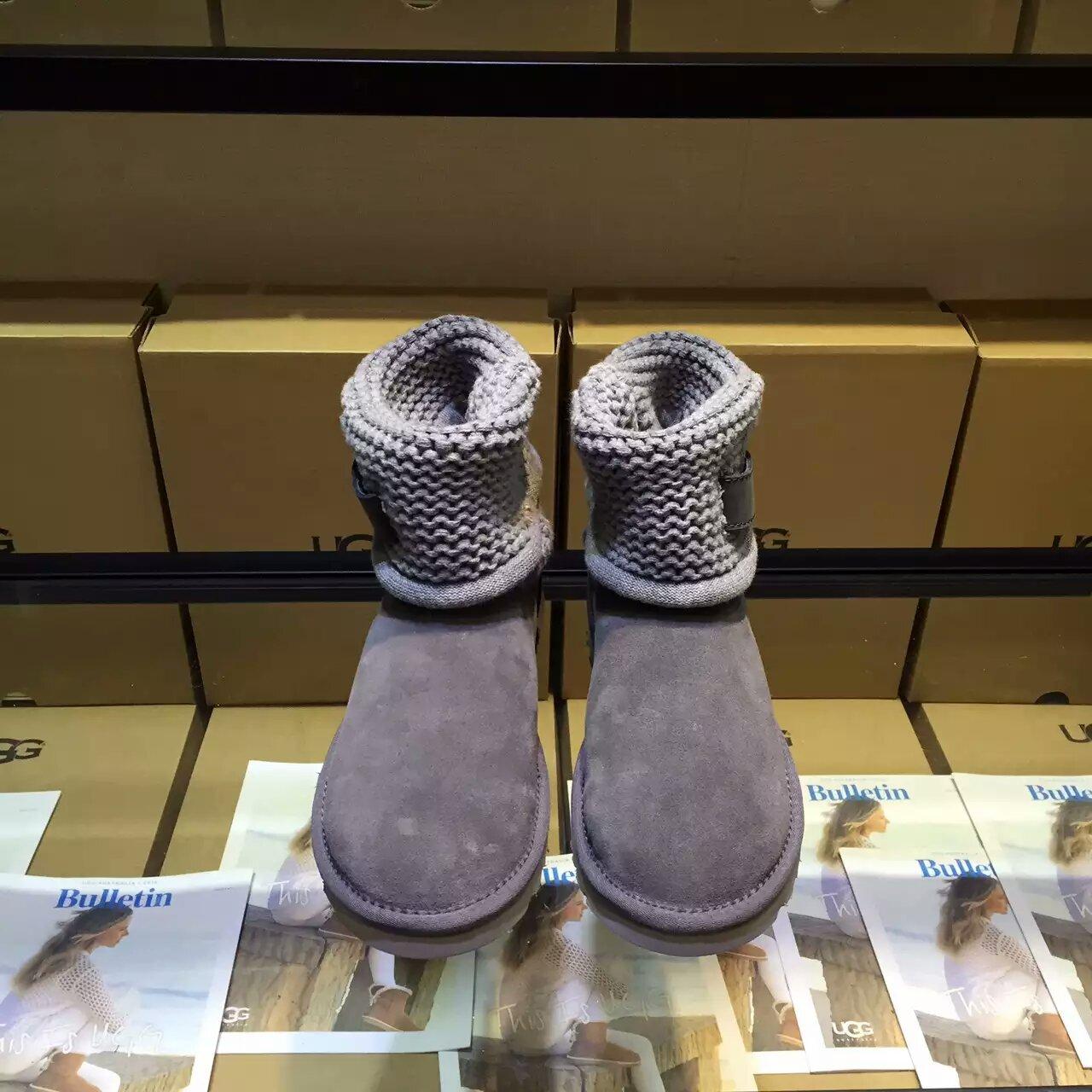 2016款顶级UGG两穿毛线雪地靴