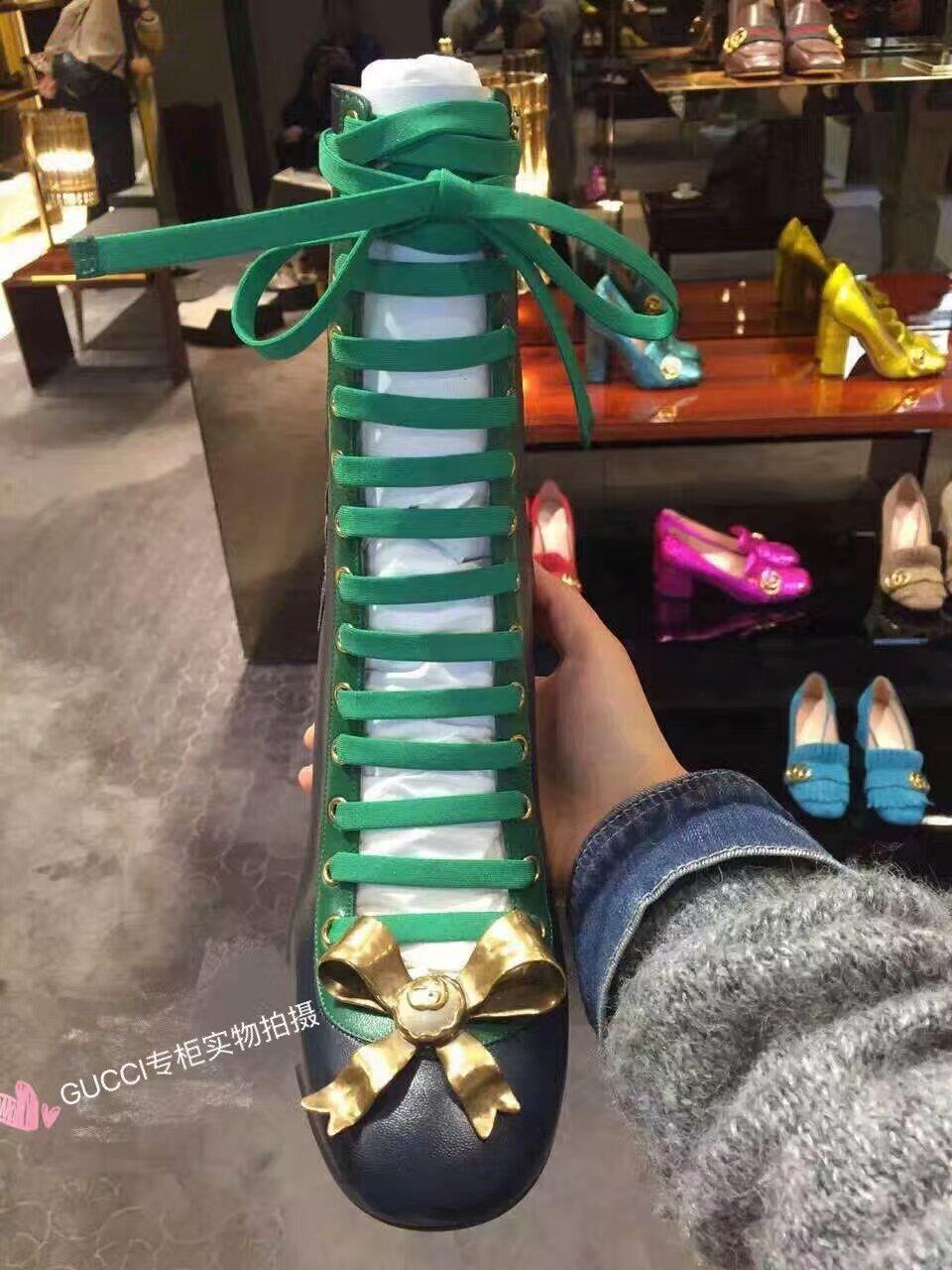 市面最高版本 GUCCI16早秋走秀款短靴