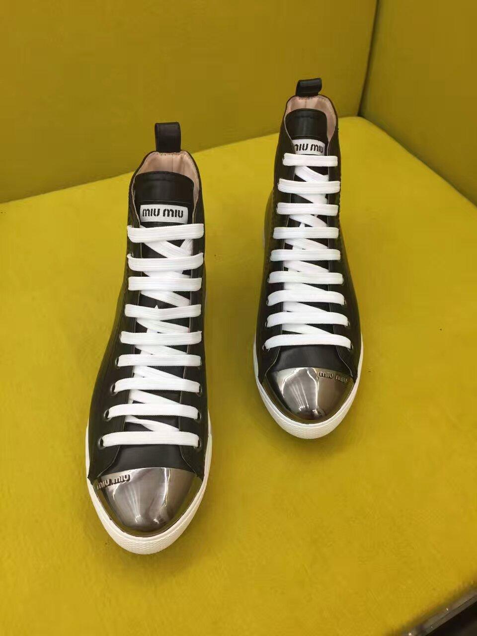 Miu Miu2016火爆热卖款女款高帮鞋