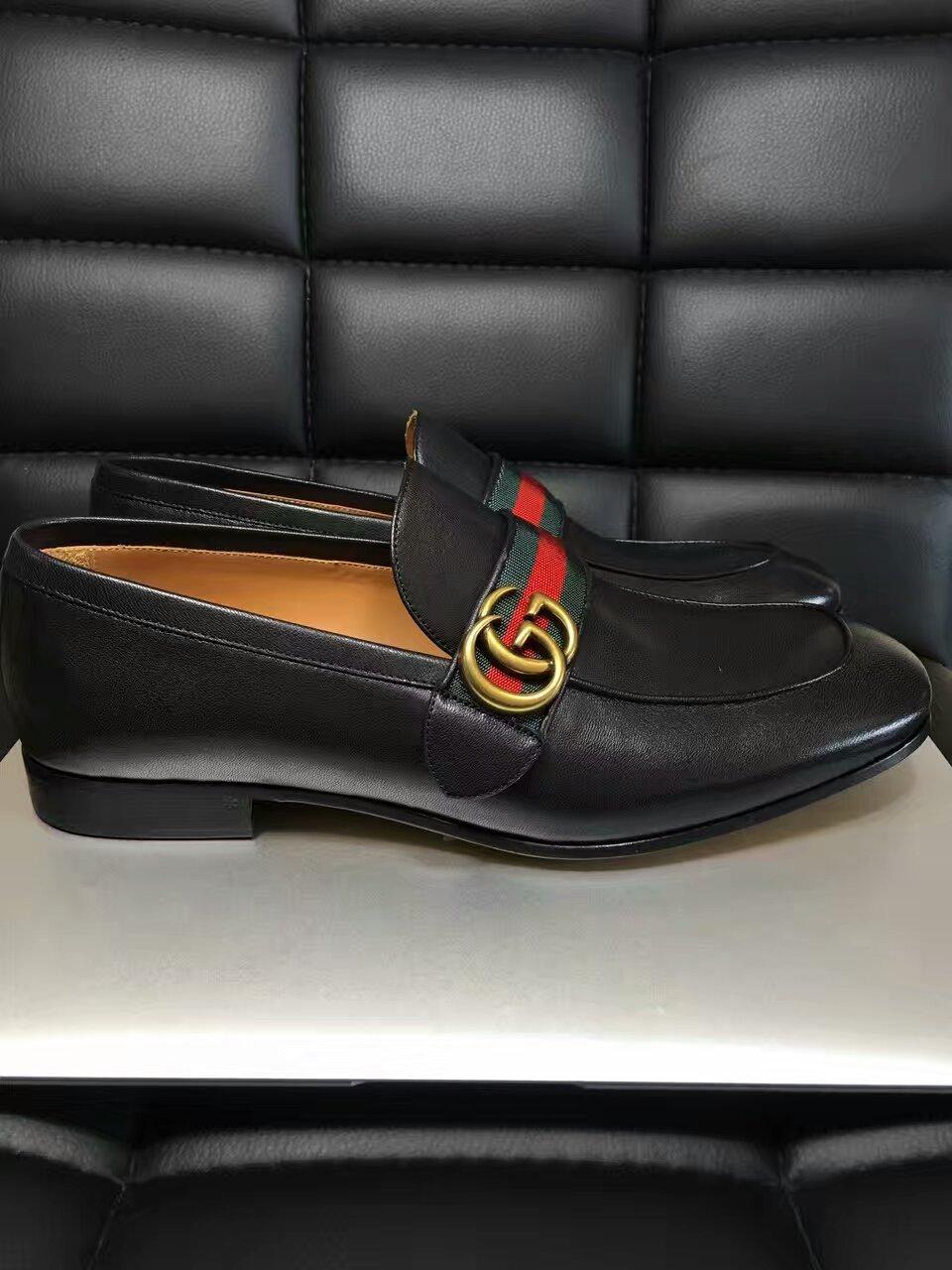 GUCCI最新秀款固特异手工皮鞋
