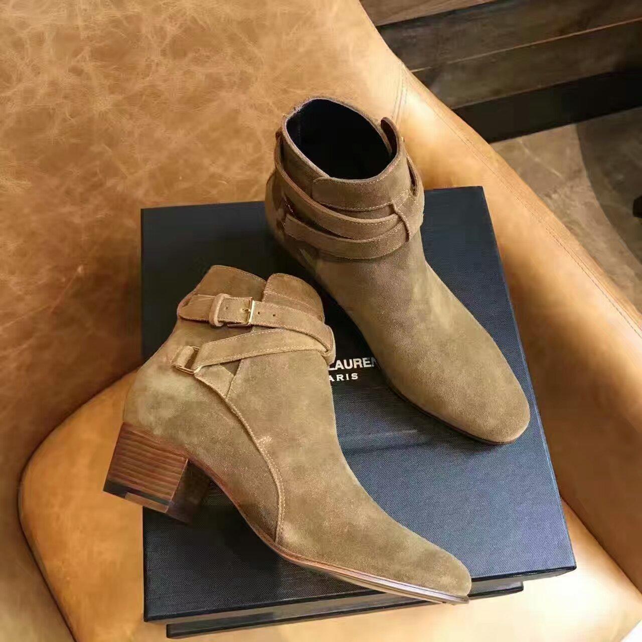 代购级别 SAINT LAURENT PARIS 裸靴!!