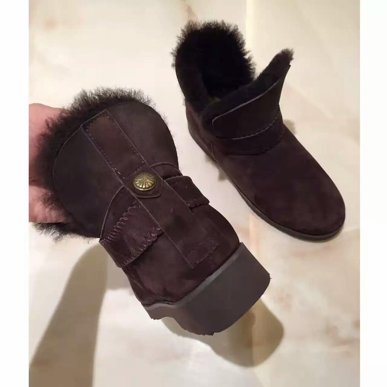 UGG 16ss新品雪地靴,澳洲进口羊皮毛一体