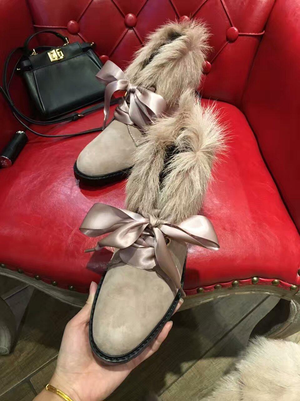 JC 皮毛一体短靴 领口安哥拉山羊毛 冬天就该要有一双像那么回事的好靴子