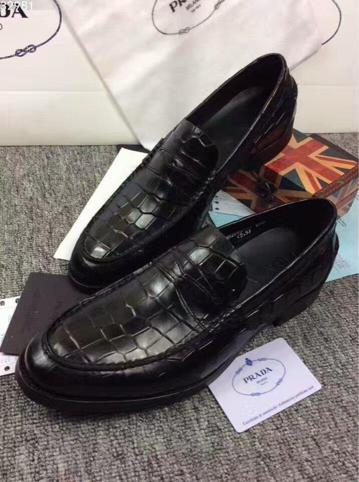 【普拉达】PRADA男士皮鞋.追求时尚低调奢华的PRADA亦或是悠游的旅行家