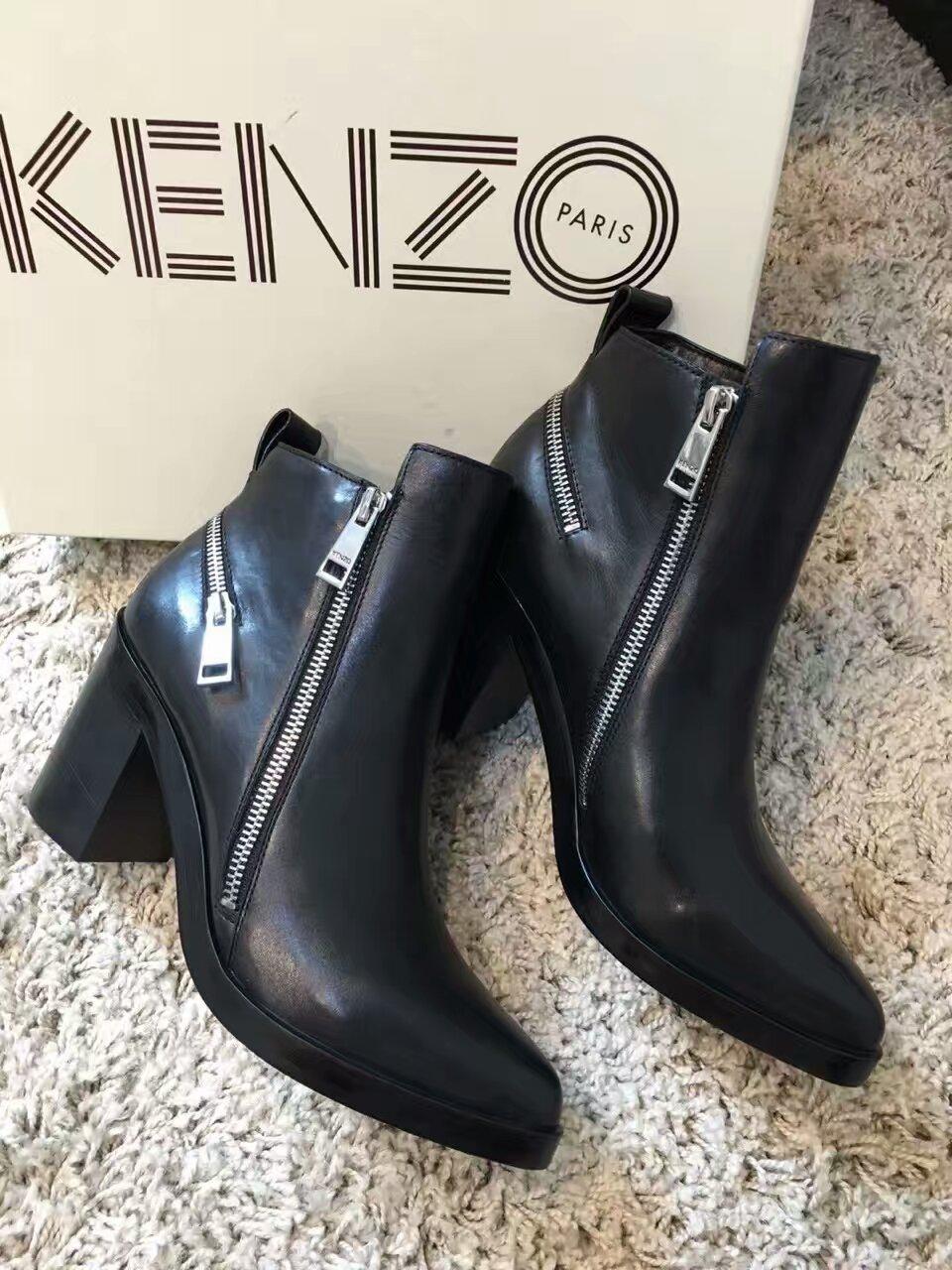 Kenzo经典短靴质感担当~市场虽有貌似的 ,但质感相差甚远