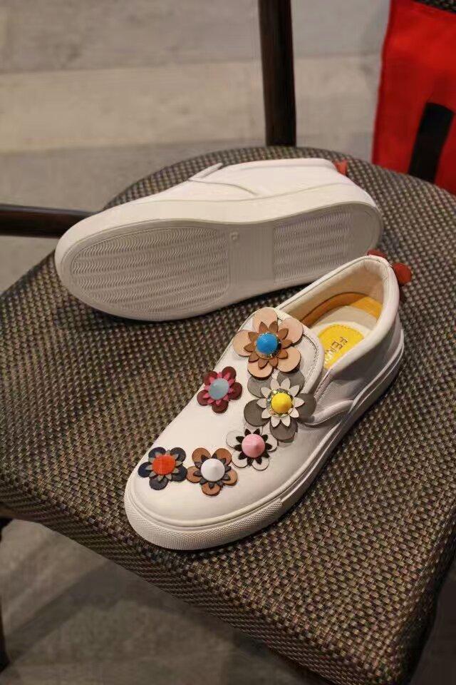 Fendi 芬迪立体花朵休闲运动女鞋
