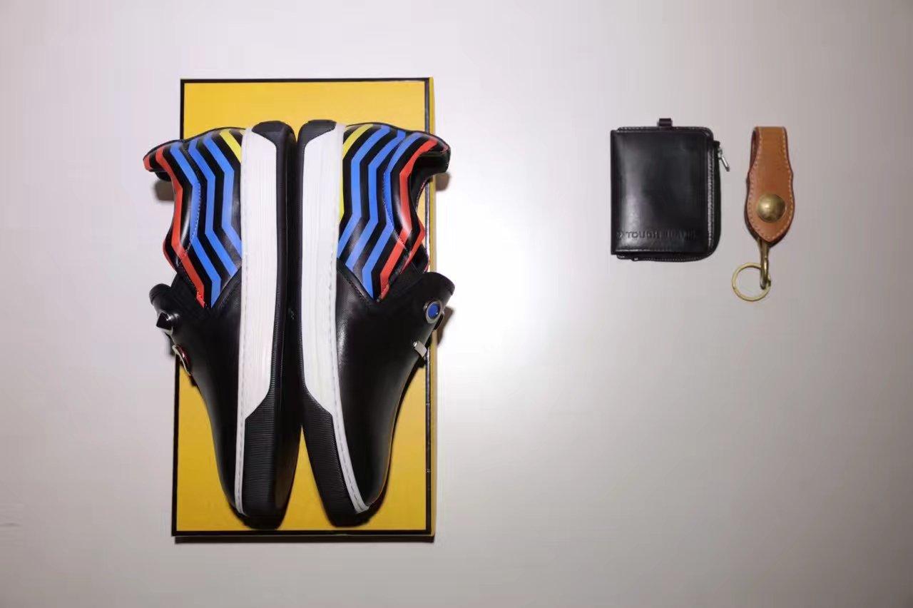 Fendi高端版本男款休闲鞋单鞋 17春款机器人一脚蹬系列