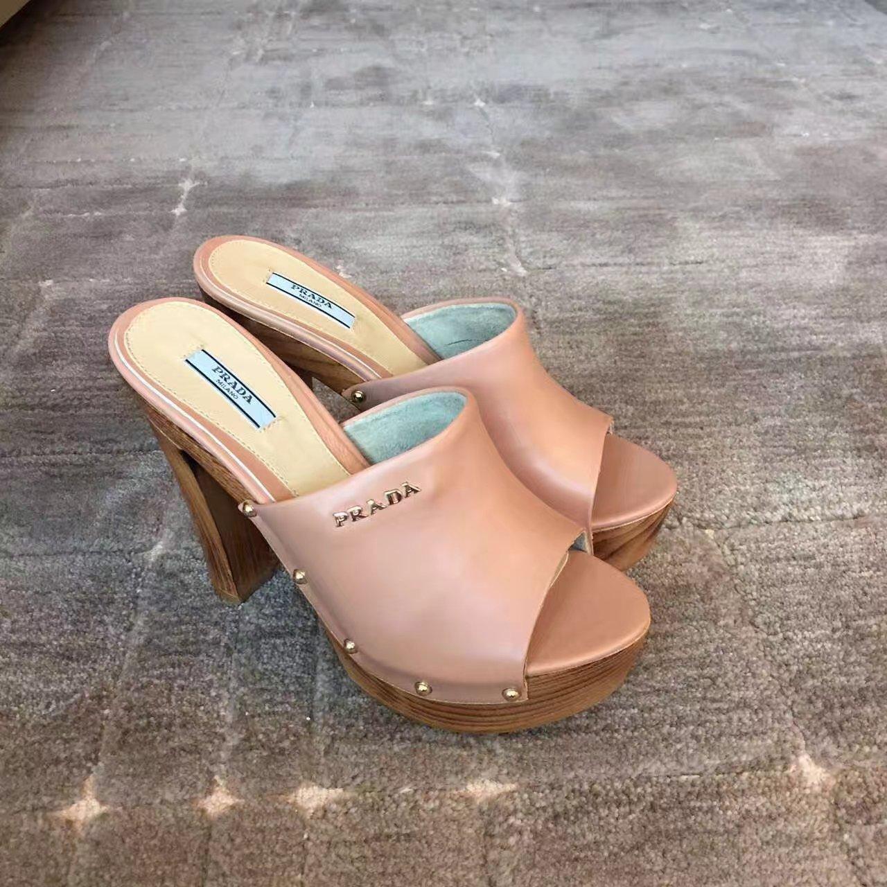【PRADA高跟鞋】普拉达女鞋2017早春爆款凉鞋