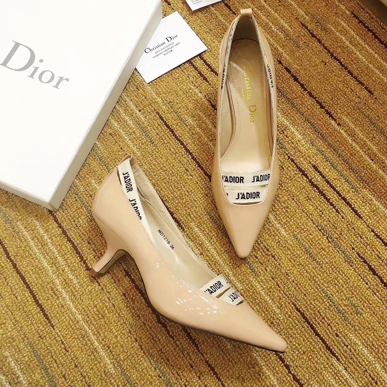 【J'ADIOR单鞋】顶级原单货【Dior】新款漆皮单鞋