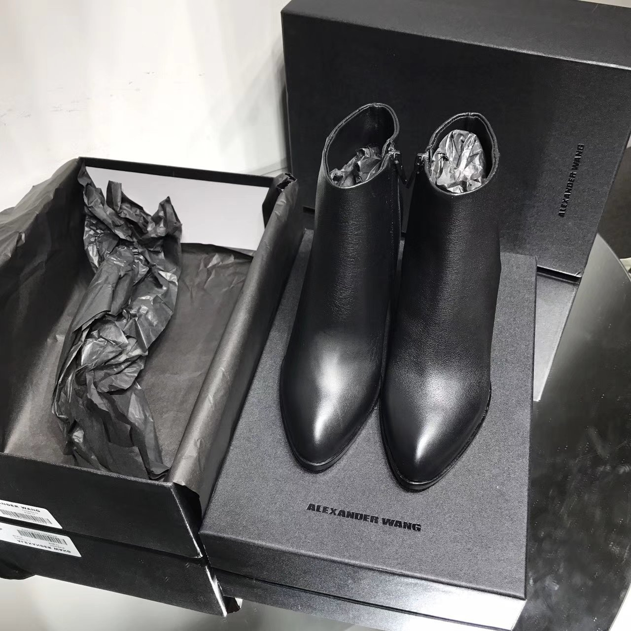 Alexander Wang原单短靴 代购品质粗跟短靴