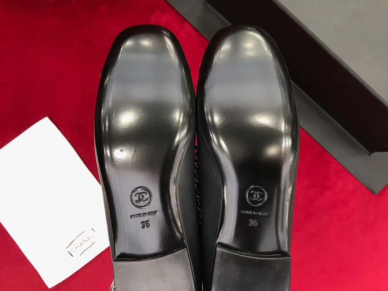 Chanel平底单鞋 17AW顶级链条系列单鞋 顶级货版本!