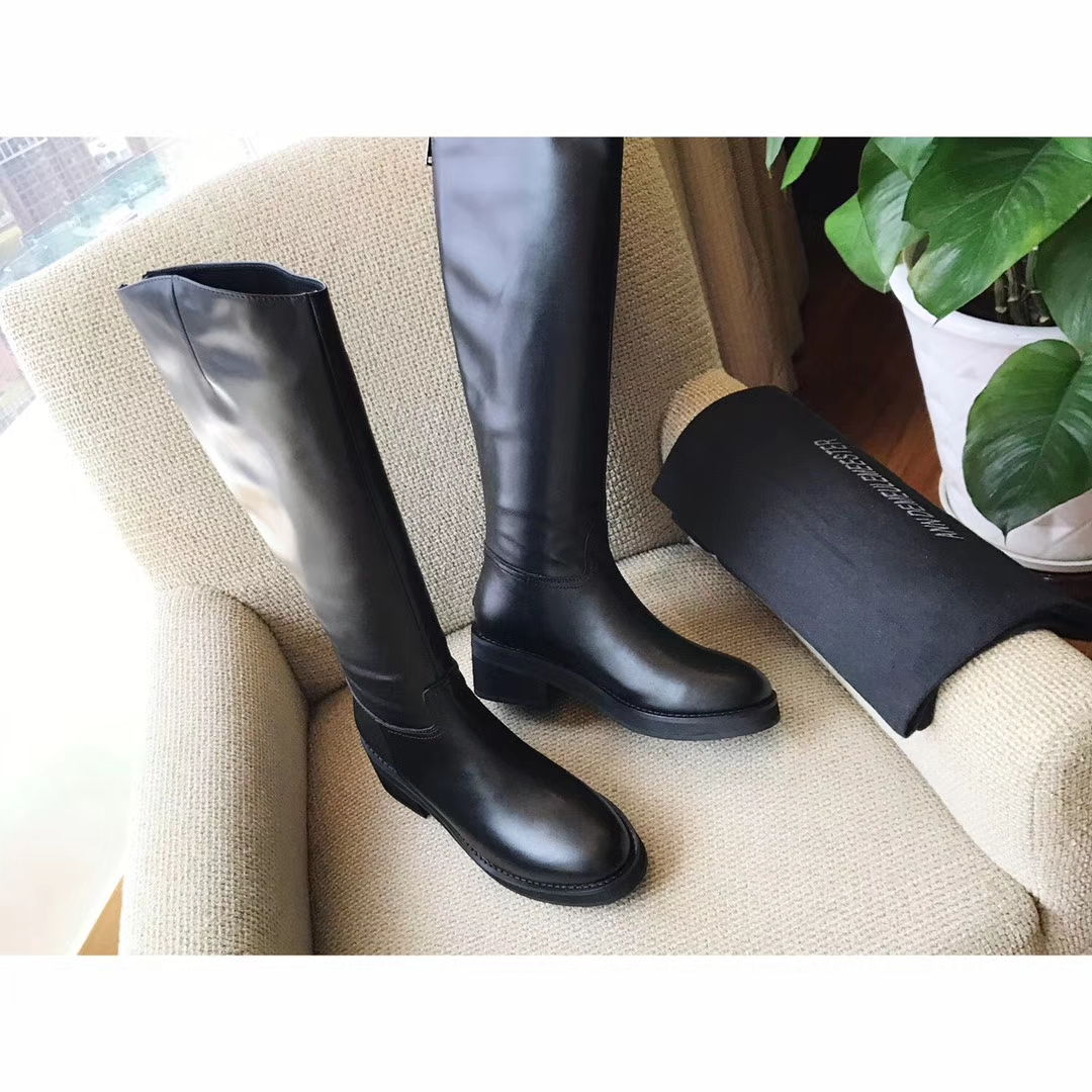 【ann demeulemeester】真皮长靴 经典骑士长筒靴