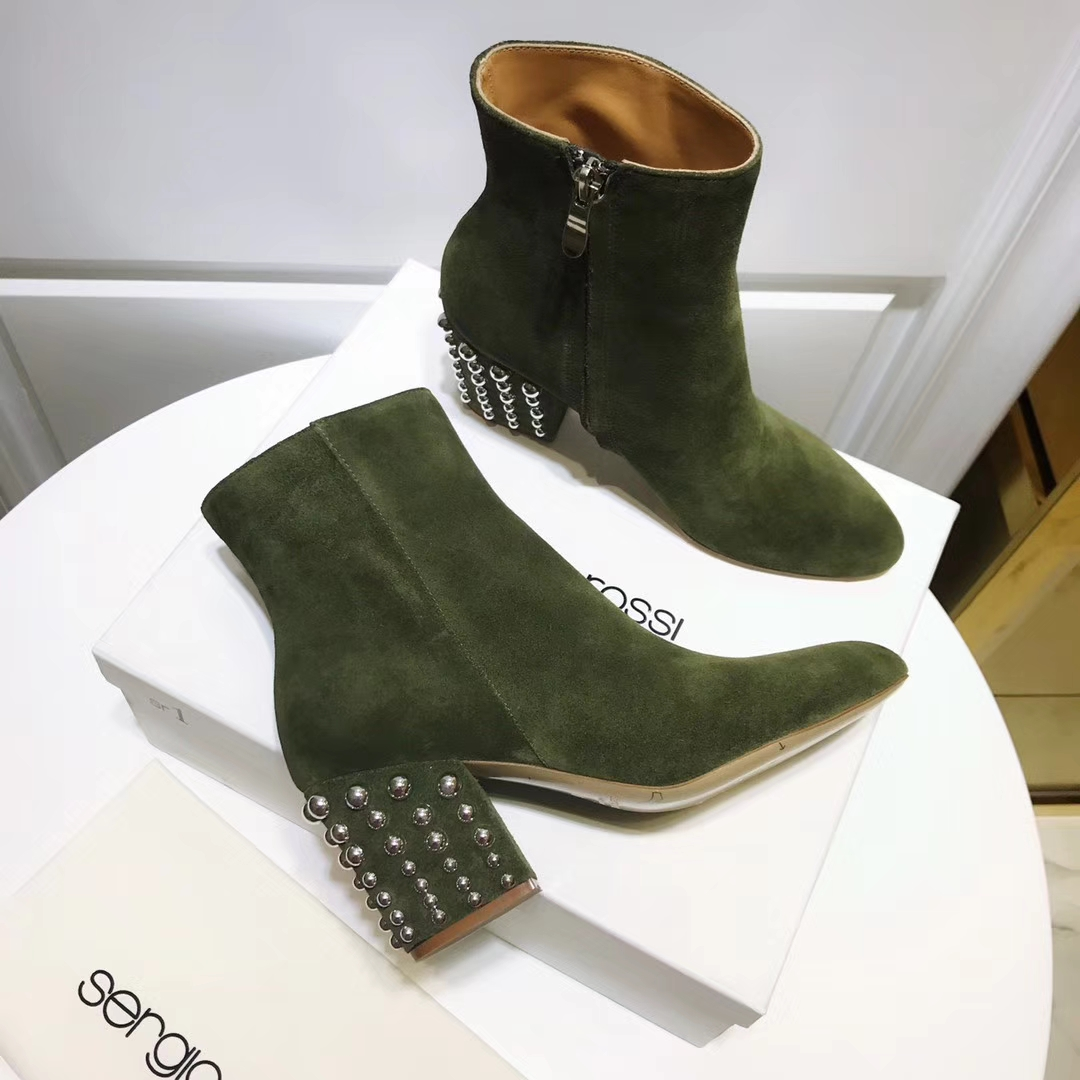 Sergio Rossi短靴17ss香港原版代购品质