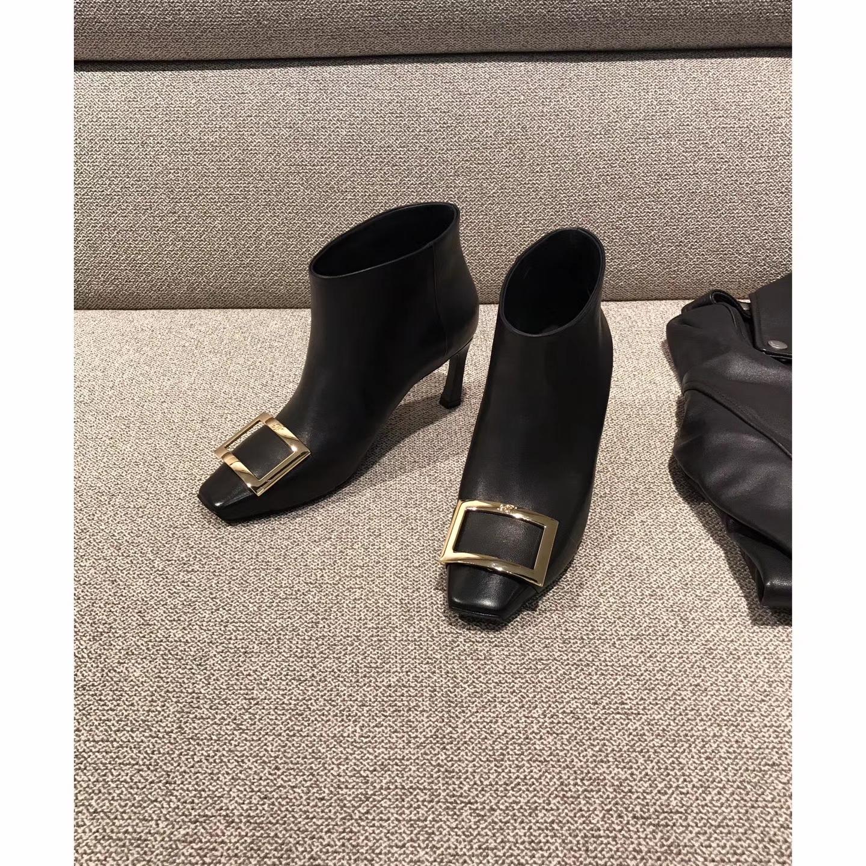 Roger Vivier女款短靴 方扣系列短靴
