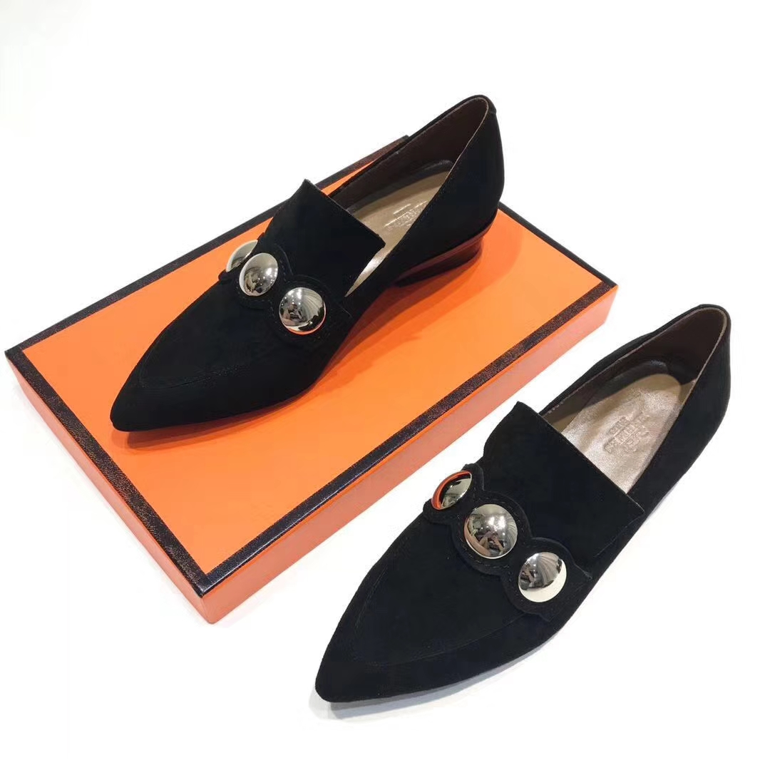 Hermes女鞋批发 2017秋冬新款单鞋