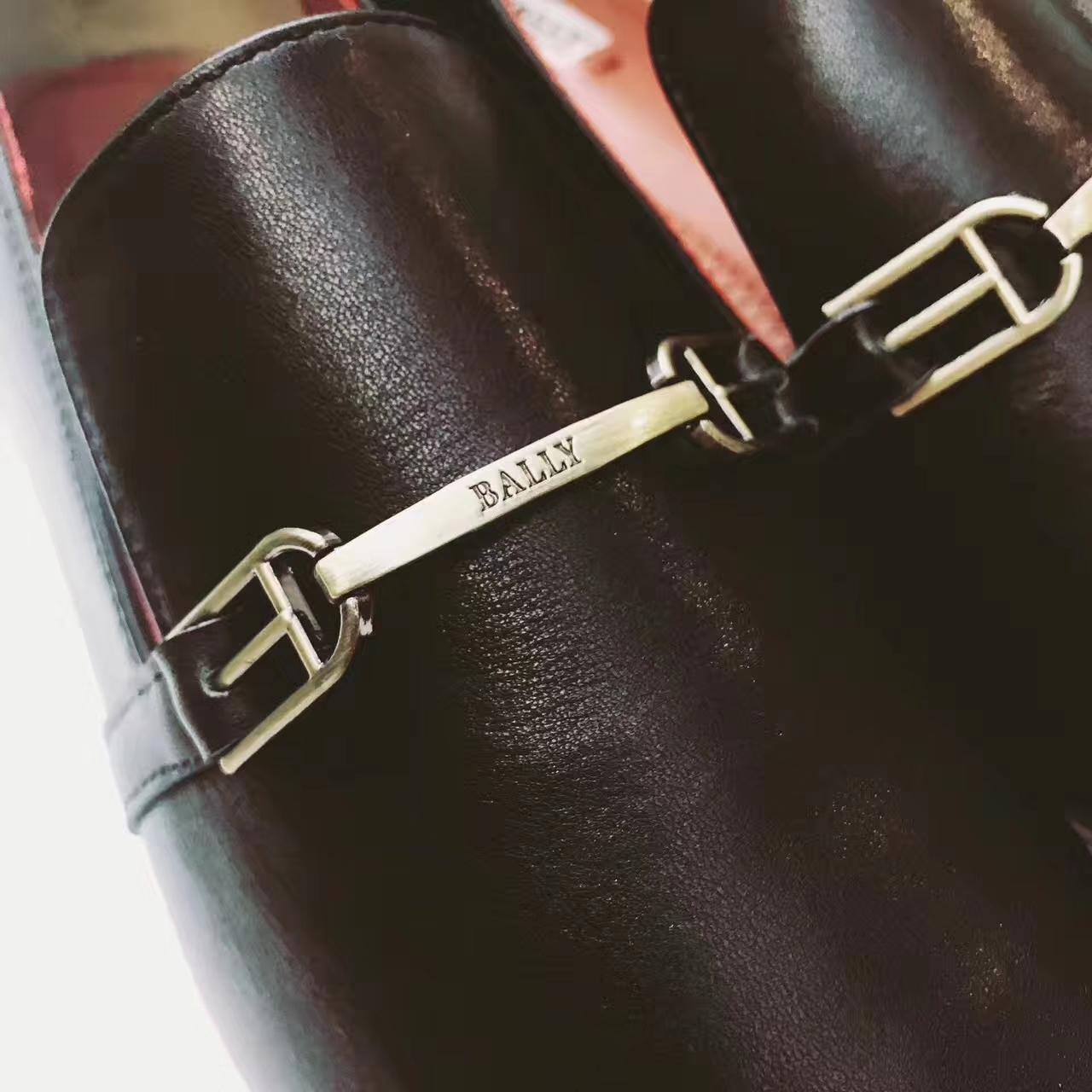 Bally女鞋货源 优雅的中性经典款平底单鞋