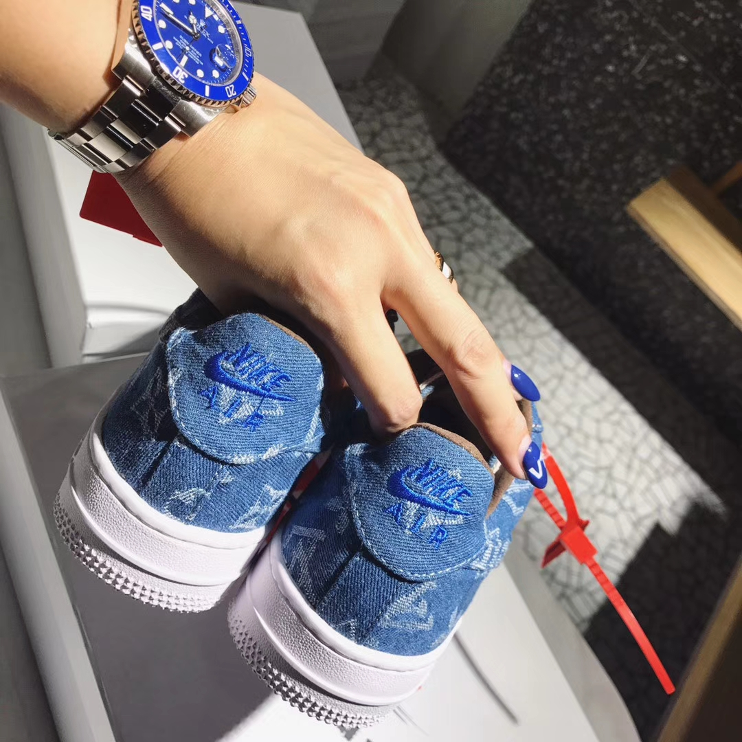 supreme x louis vuitton女款休闲鞋单品打造nike air force 1客制鞋款