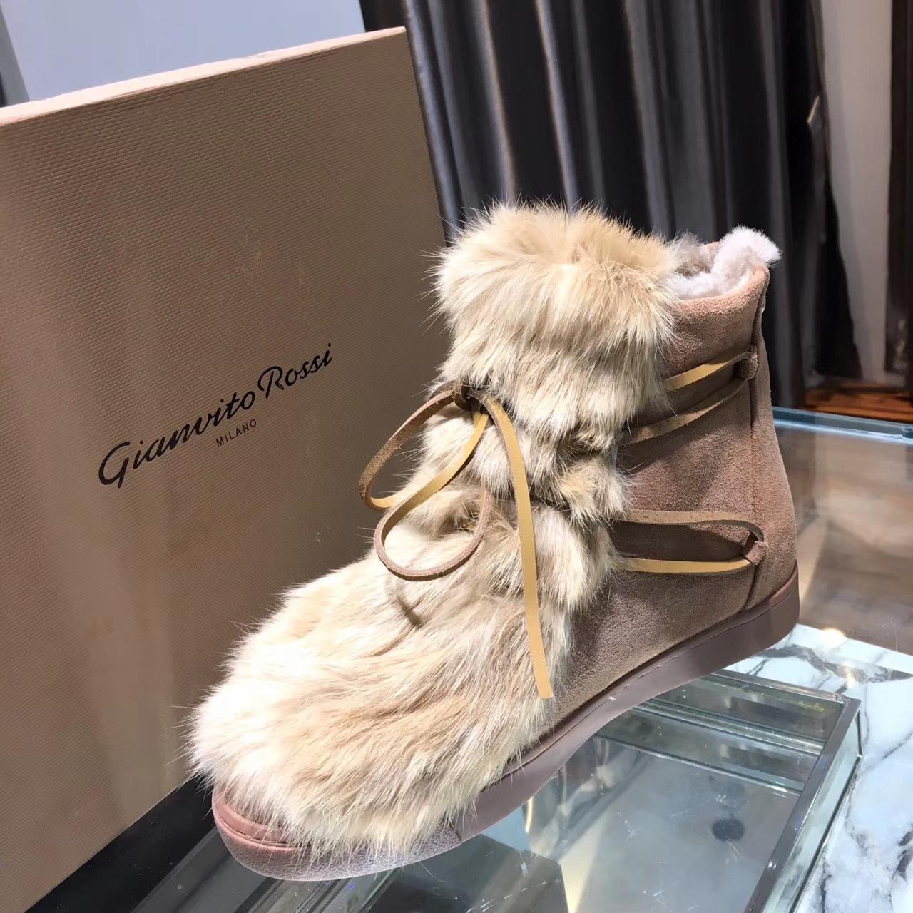 【Gianvito Rossi 】新款兔毛雪地靴