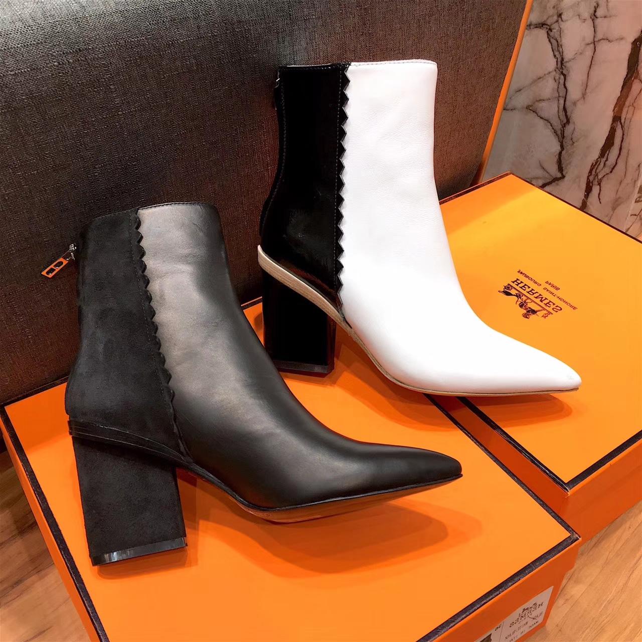 【Hermes 】爱马仕女靴 17秋冬专柜新款短靴