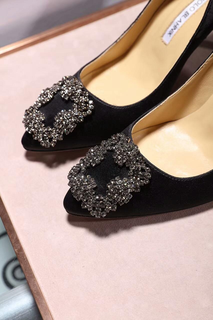 Manolo Blahnik高跟鞋 2017新款水钻高跟单鞋
