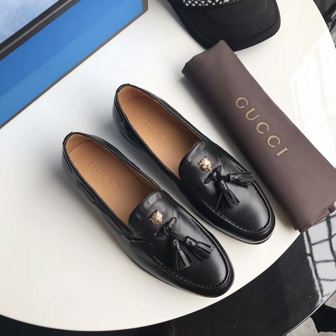 GUCCI男鞋17年意大利顶级休闲皮鞋