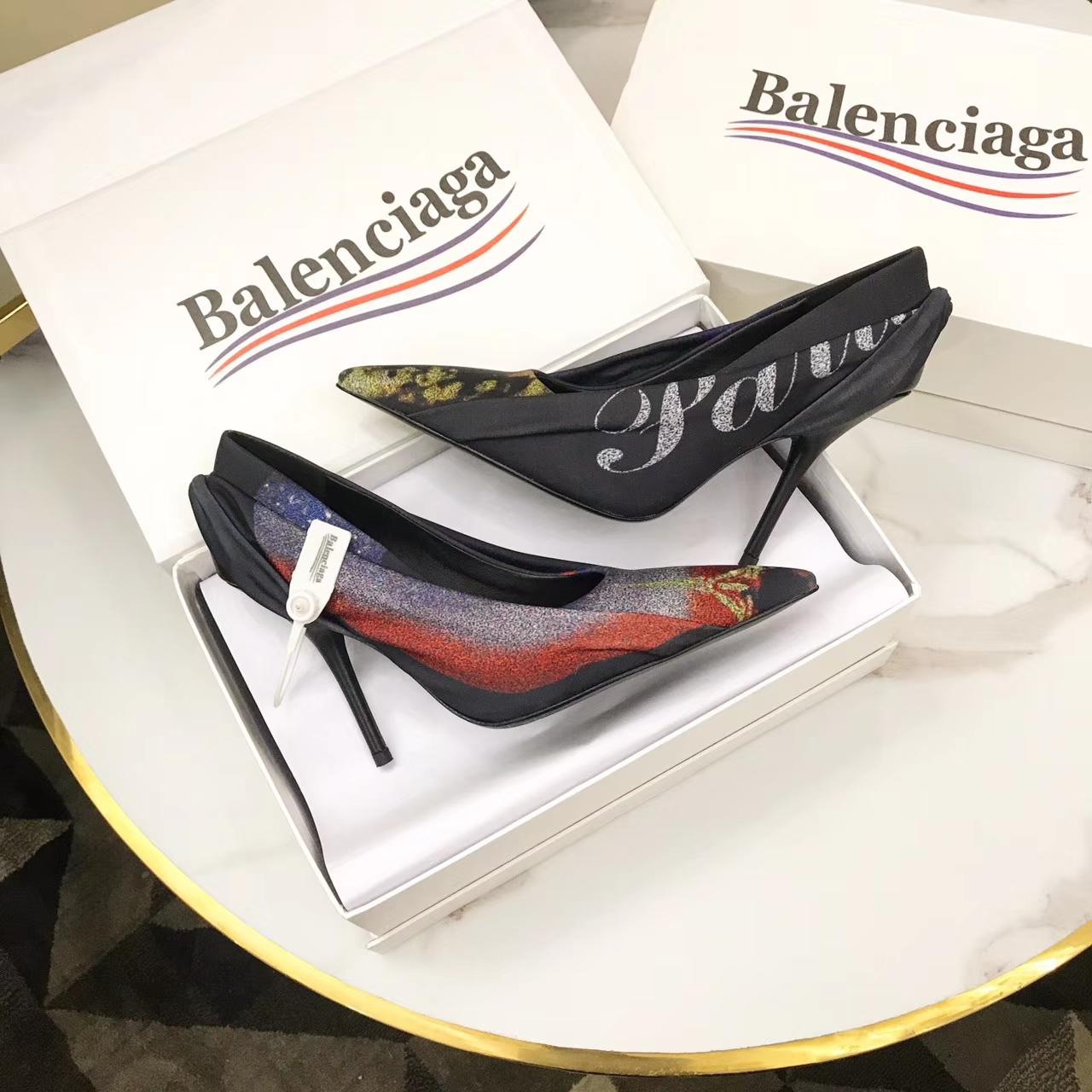 【BALENCIAGA•巴黎世家】原版品质名模走秀款高跟鞋