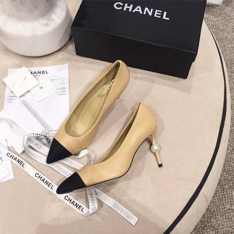 Chanel专柜走秀款高跟鞋_女鞋单鞋