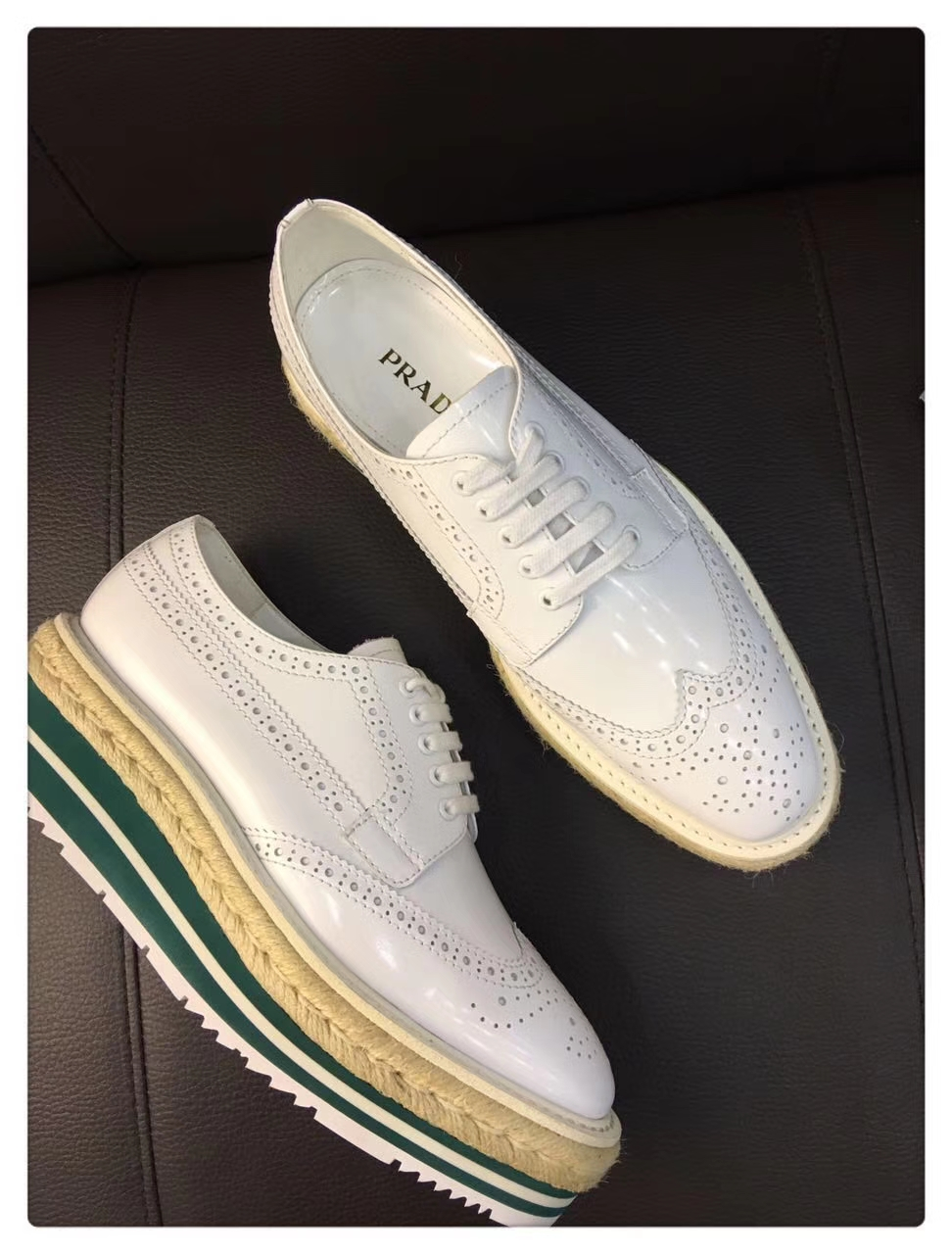 顶级品质Prada经典款厚底鞋女鞋单鞋