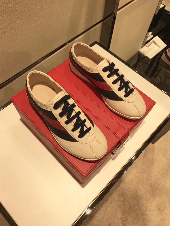 《GUUCI》古驰情侣款休闲鞋太古汇HK专柜同步发售
